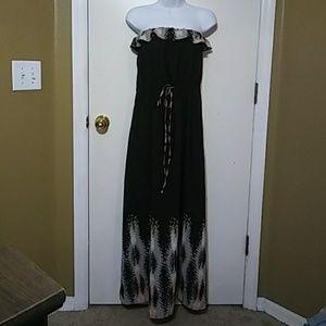 Dolce Vita Black Maxi Tube top Dress. Medium